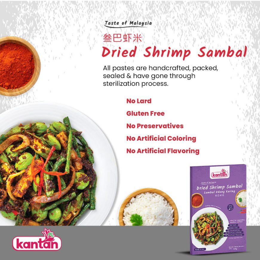 dried shrimp sambal selling points